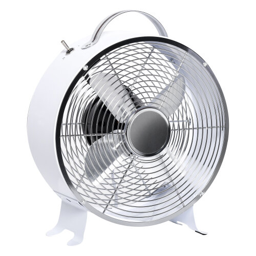 HOMCOM 26cm White 2-Speed Electric Fan With Safe Guard