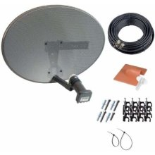 Sky Dish with Quad LNB Zone 1 - Complete Kit with 20m Satellite Cable