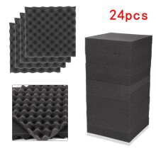 24 X Acoustic Egg Panels Tiles Studio Sound Proofing Insulation Closed