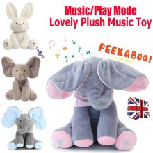 Baby Peek-a-boo Soft Elephant Doll Singing Toy Gift