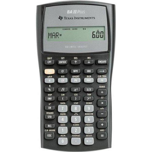 Texas Instruments Advanced Financial Calculator BAIIPlus