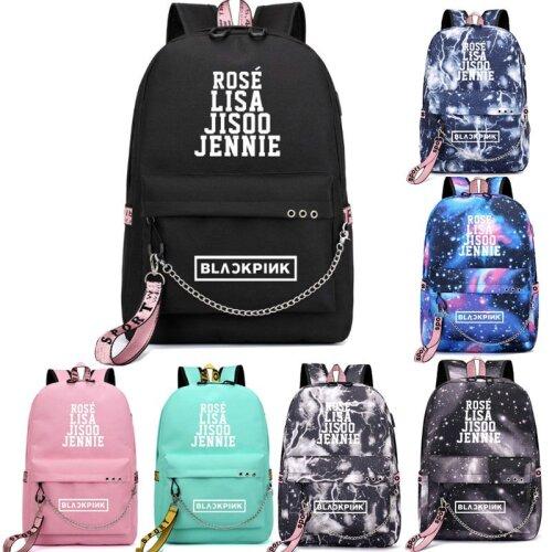 BlackPink Women Men Galaxy Schoolbag Travel Bags