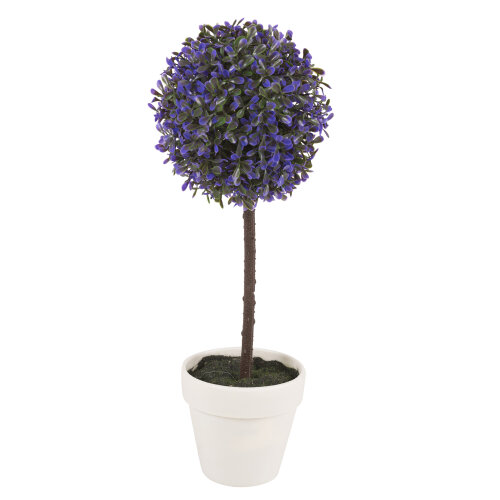 (Large, Lavender) 2X Artificial Outdoor Ball Plant Tree