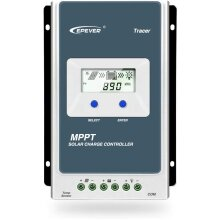 EPEVER MPPT Solar Charge Controller Tracer AN Series 10A/20A/30A/40A with 12V/24V DC Automatically Identifying System Voltage(10A)