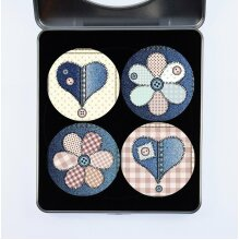 Pattern Weights Dressmaking Fabric Weights PATTERNWEIGHTS Cloth Weights - A Selection of Pattern Weights - Patchwork Heats and Flowers - PW Original -