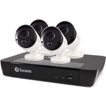 Swann 4 Camera 8 Channel 5MP Super HD Security System, NVR-8580 with 2 TB HDD and 4 x Bullet Cameras, Work