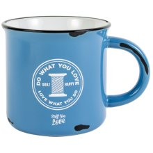 K1C2 Quilt Happy Happy Camper Mug 15oz-Blue