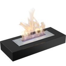 Free-Standing Bio-Fireplaces INDIA MAX Black With TÜV Certified