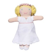 Zubels 100% Hand-Knit Grace the Angel Rattle Toy, 7-Inch, All Natural Fibers, Eco-Friendly