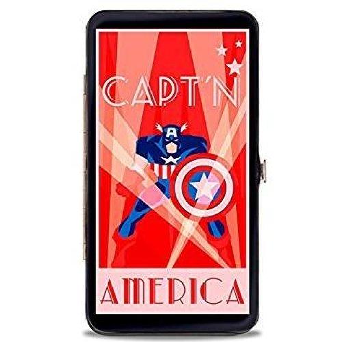 Hinge Wallet - Captain America -  Toys New Licensed hw-caw