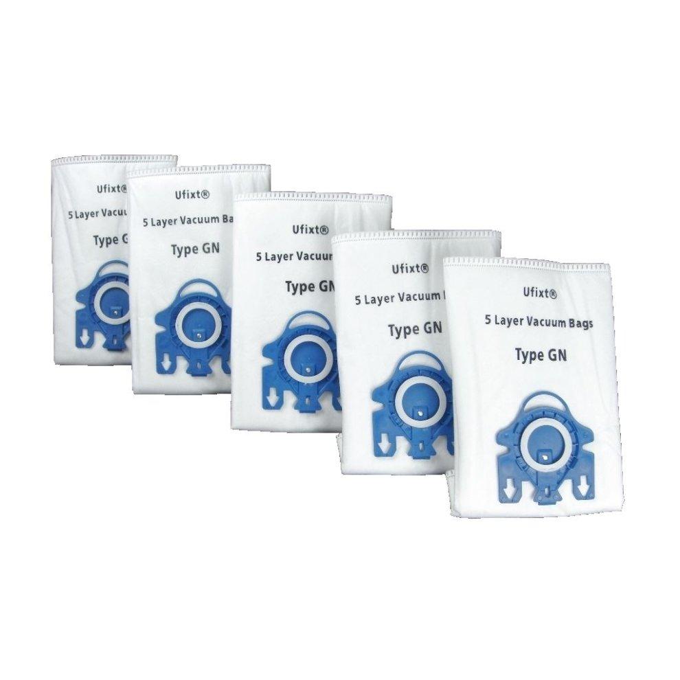 5 x Miele GN S2110 S421I S456I S5261 S2111 S424I Vacuum Dust Bags /& Filter