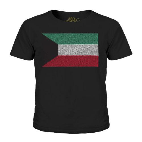 Candymix - Kuwait Scribble Flag - Unisex Kid's T-Shirt