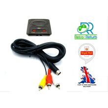 Sega Mega Drive 2 Genesis 2 AV Cable TV Lead Composite Video Audio RCA