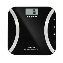 Salter Ultimate Accuracy Digital Analyser Scales - Measure 50g Increments, Step-On Instant Reading of Weight, Body Fat, Water, Lean Mass, BMI, BMR...