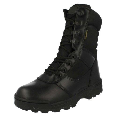 (UK 8.5, Black) Mens Ridge Dura-Max Waterproof Zipper Boots 4106WP