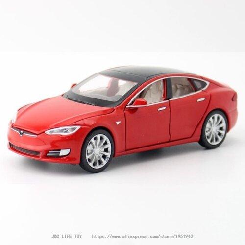 1:32 Tesla MODEL S Alloy Car Model Diecasts(Red)
