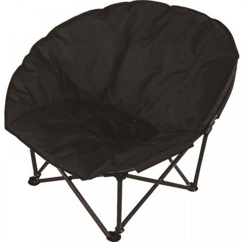 Gr8 Garden Deluxe Moon Chair - Black | Folding Armchair