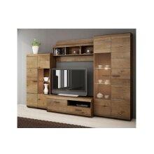 "TV Wall Unit ""LENA"" Set of Living room Furniture LED lighting Oak Lefkas"