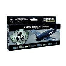 Val71157 - Av Vallejo Model Air Set - Usn Aircraft Set (x8)