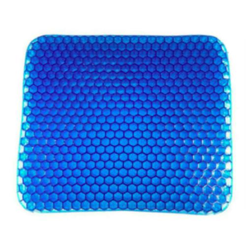 Blue TPE Gel Seat Cushion | Back & Hip Support Cushion