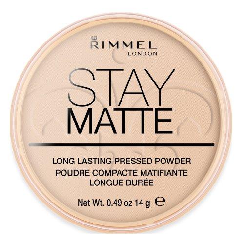 Rimmel London Stay Matte Pressed Powder, 003 Peach Glow, 14 g
