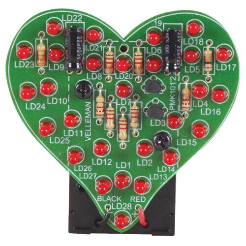 Velleman MK101 Flashing LED Sweetheart Kit
