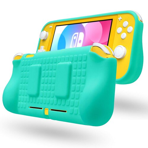 TPU Case with Game Card Slots for Nintendo Switch Lite Travel Cover Turquoise
