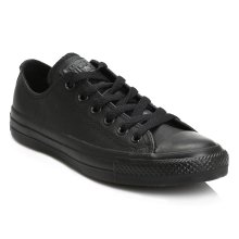 Converse Mens Womens Black All Star OX Leather Trainers