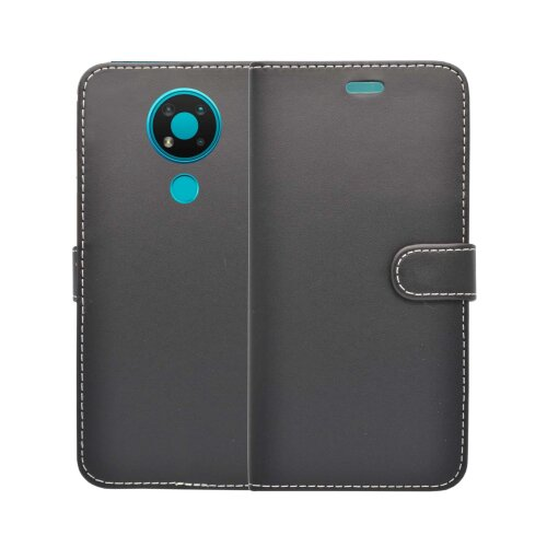 (Black) For Nokia 3.4 Wallet Flip PU Leather Pouch Case Cover