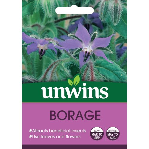 Unwins Grow Your Own Easy To Grow Borage Herb Seeds