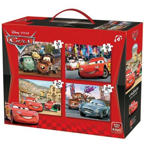 King 4 Disney Pixar Cars Jigsaw Puzzles (12 - 24 Pieces)