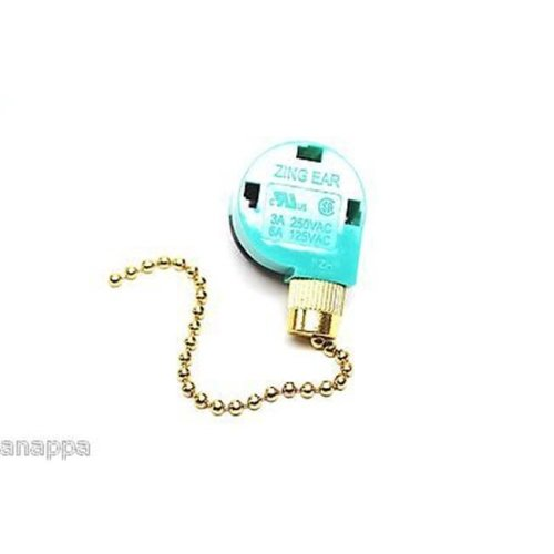 Zing Ear Pull Chain Switch 3 Speed
