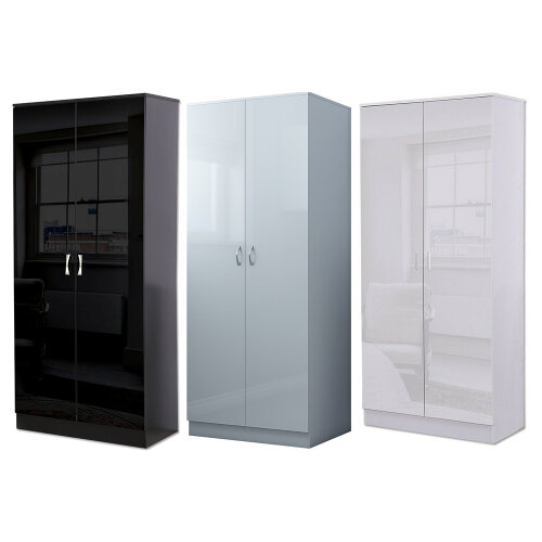 Chilton 2 Door Gloss Wardrobe