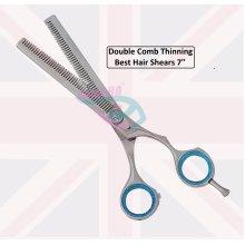 "Professional Hair Thinning Scissors 7"" Plasma Shiny scissors UK Stock"
