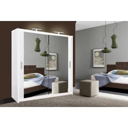 Milan Full Mirror Bedroom Sliding Wardrobe 203cm