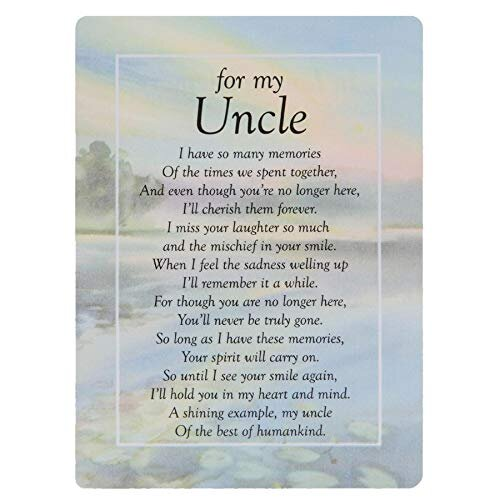 Graveside Memorial Cards - For My Uncle