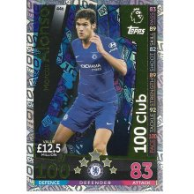 MATCH ATTAX 2018/19 MARCOS ALONSO 100 CLUB CARD CHELSEA