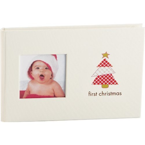 Pearhead Baby Brag Book First Christmas Photo Album Holds 24 Photos