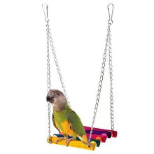 Bird Hanging Swing Hammock Bed Perch Stand Parrot Budgie Cockatiel Cage Toys