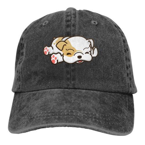 Cute French Bulldog Denim Baseball Caps