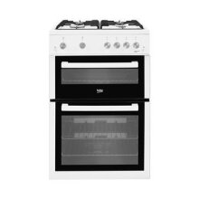 Beko Freestanding 60cm Double Oven Gas Cooker, White - Used
