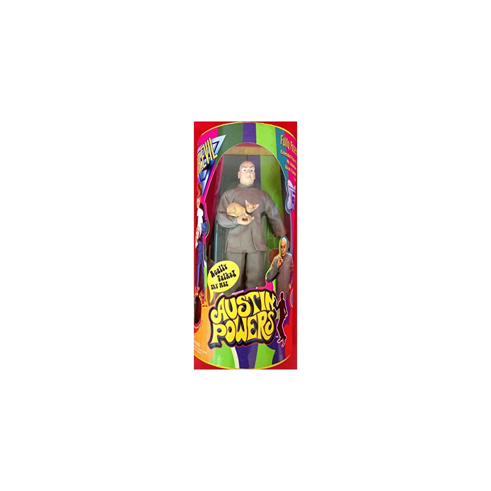 Bigglesworth 9 Dr International Man of Mystery Austin Powers Evil Action Figure with Extended Pinky Finger and Mr