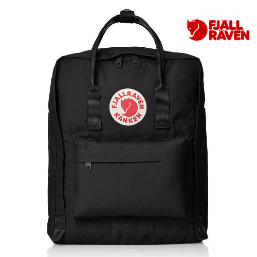 Fjallraven Kanken Unisex Backpack Casual Daypacks Black 16L