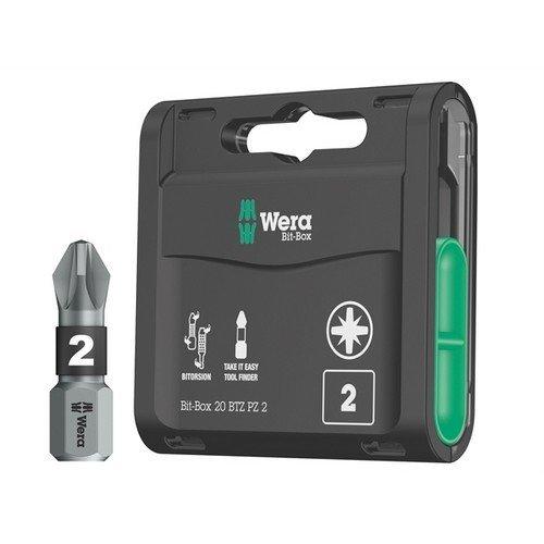 Wera WER057761 Bit-Box 20 BiTorsion Bits PZ2 x 25mm 20 Piece