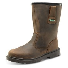 Click CTF48BR06.5 Rigger Safety Boots With Steel Toecap and Midsole Brown Size 6.5