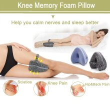 Memory Foam Leg Pillow Protect Leg And Knee Support Wedge To Relieve Sciatica