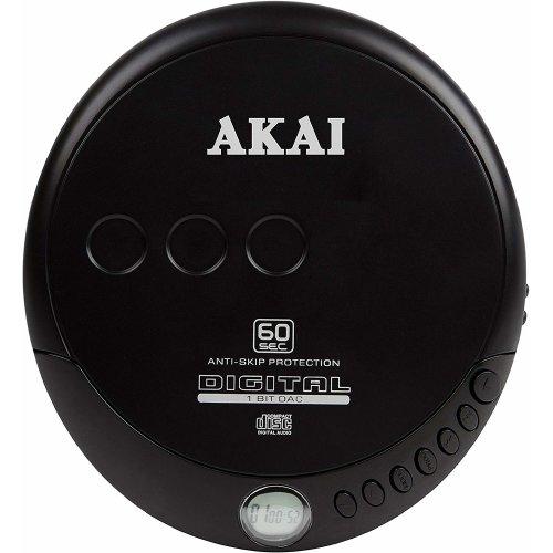 Akai A61007 CD Discman  60 Seconds Anti-Skip Protection, LCD Display
