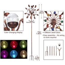 SteadyDoggie Solar Wind Spinner Jewel Cup Multi-Colour LED Light