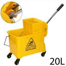 20 L Kentucky Mop Bucket and Wringer Yellow Cleaning Mopping Comm