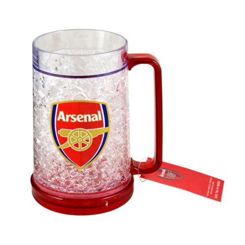 Arsenal Freezer Mug - Tankard Fc Football Official Beer Plastic Drinking Glass -  freezer tankard arsenal fc football mug official beer plastic